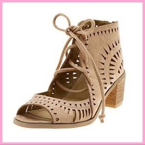 """DIBA   """"Opal"""" Perforated Suede Heeled Sandals"""